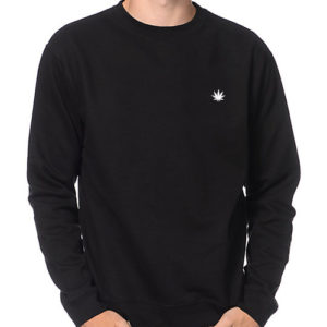 The New Amsterdam Leaf Crewneck Sweatshirt - Black